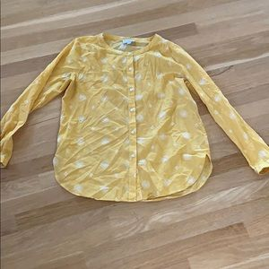 Loft Outlet Yellow-white Floral Cotton Shirt